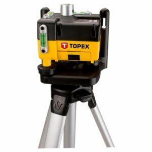 Lézeres szintező 360fokos, rotációs, önbeálló, 30m, állvánnyal, szemüveggel, kofferben | TOPEX 29C908