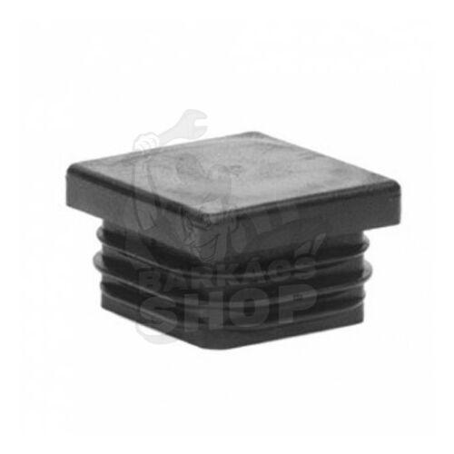 Zártszelvény dugó, fekete 15x15 mm