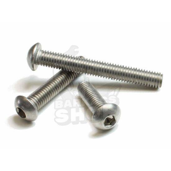 Domborúfejű, belső kulcsnyílású csavar A2, rozsdamentes M10x16